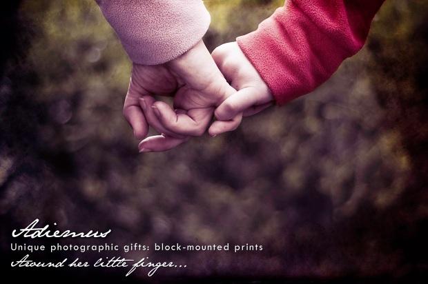 around her little finger